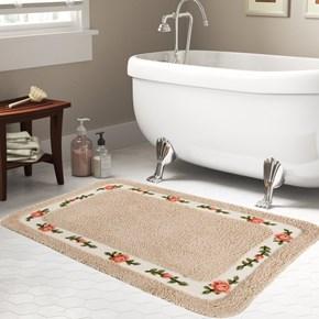 Giz Home Gül Banyo Paspası 80X150 Linen - 102GULN002019 görseli