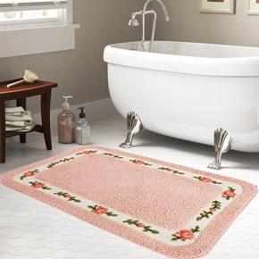 Giz Home Gül Banyo Paspası 70X120 Pink - 102GUPK001993 görseli