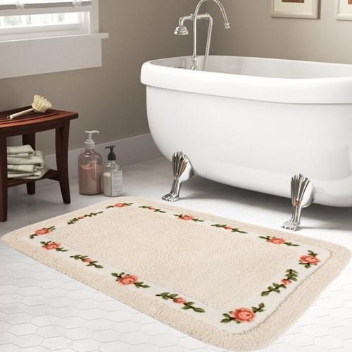Giz Home Gül Banyo Paspası 70X120 Cream - 102GUCR001993 görseli, Picture 1