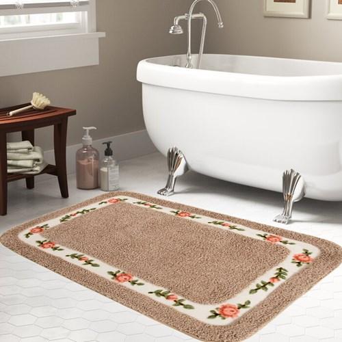 Giz Home Gül Banyo Paspası 70X120 Brown - 102GUBW001993 görseli, Picture 1