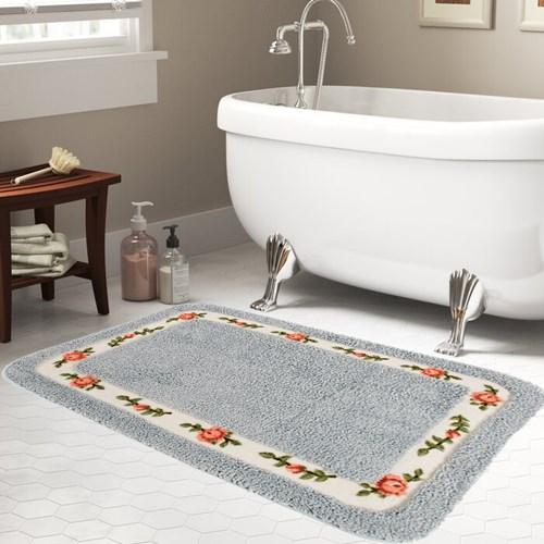 Giz Home Gül Banyo Paspası 70X120 Blue - 102GUBL001993 görseli, Picture 1