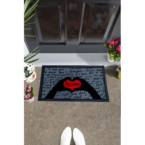 Giz Home İtalyan Format Kapı Paspası 40X68 I Feel Love - 103IFKHYA1911 görseli, Picture 1
