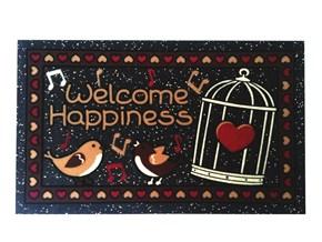 Giz Home İtalyan Format Kapi Paspasi 40X70 Welcome Kuşlar - 103IFWCKS1911 görseli