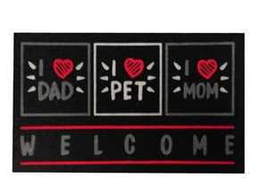 Giz Home İtalyan Kokardo Kapi Paspasi 40X70 Welcome Pet - 103IKWCPT1931 görseli