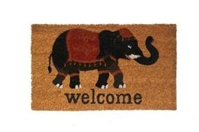 Giz Home Koko Kapı Paspası 35x60  Siyah Welcome Fil - 103KKSWFL3368 görseli