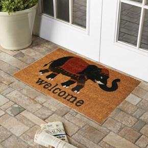 Giz Home Koko kapı Paspası 33x60  Siyah Welcome Fil - 103KKSWFL2043 görseli