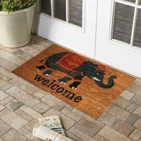 Giz Home Koko Kapı Paspası 33x60  Gri Welcome Fil - 103KKGWFL2043 görseli