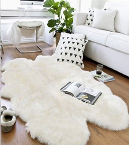 Giz Home Alaska Peluş Post Halı Beyaz 120x180 cm - 304ALBZ003562 görseli