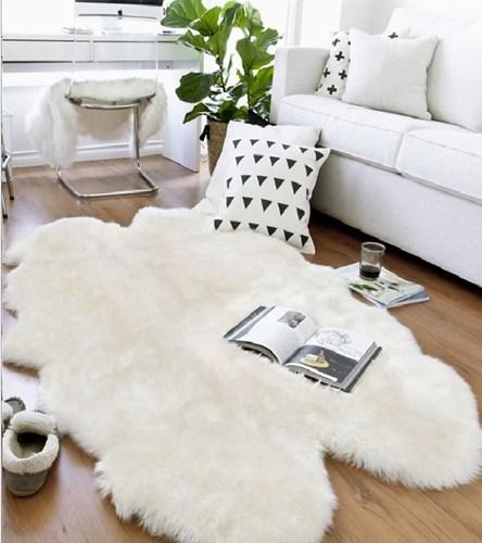 Giz Home Alaska Peluş Post Halı Beyaz 120x180 cm - 304ALBZ003562 görseli, Picture 1