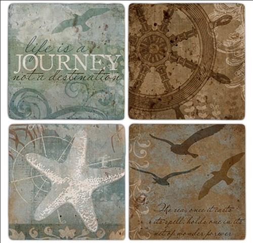 Journey Doğal Taş Bardak Altlıkları - BA203 görseli, Picture 1