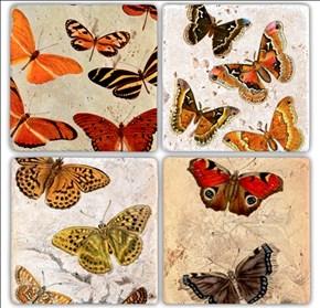 Color fly  Doğal Taş Bardak Altlıkları - BA204 görseli