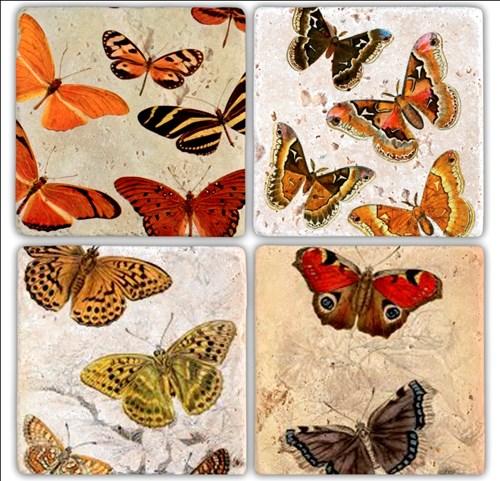Color fly  Doğal Taş Bardak Altlıkları - BA204 görseli, Picture 1