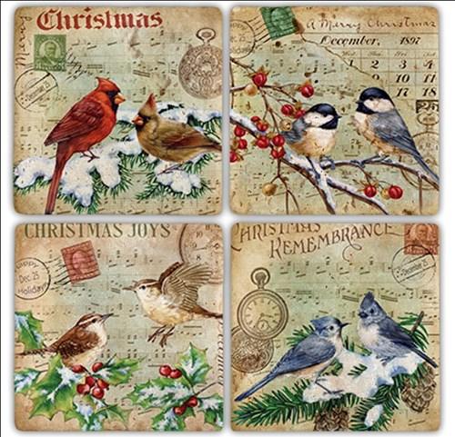 Postbird Doğal Taş Bardak Altlıkları - BA206 görseli, Picture 1
