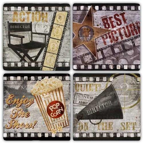 Cinema Doğal Taş Bardak Altlıkları - BA250 görseli, Picture 1
