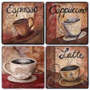 Latte Time Doğal Taş Bardak Altlıkları - BA277 görseli