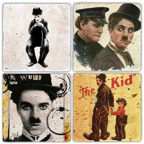 Chaplin Film's  Doğal Taş Bardak Altlıkları - BA306 görseli, Picture 1