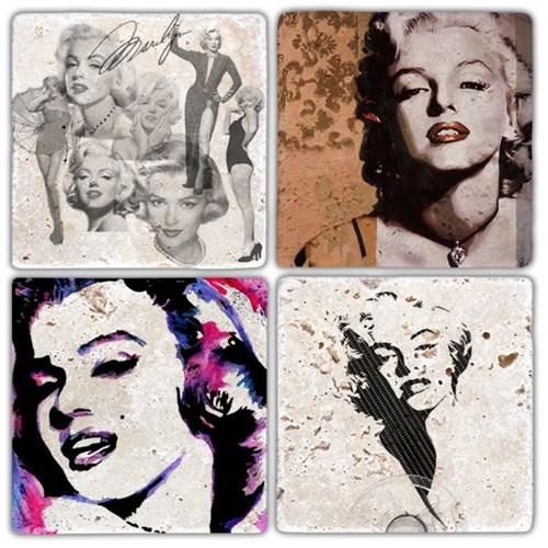 Marilyn Art Doğal Taş Bardak Altlıkları - BA286 görseli, Picture 1