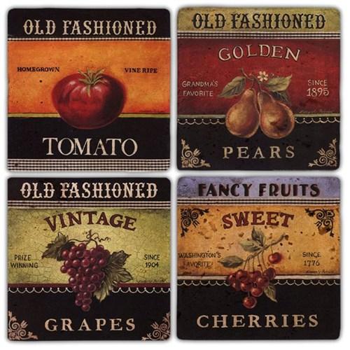 Old Fashioned Doğal Taş Bardak Altlıkları - BA325 görseli, Picture 1