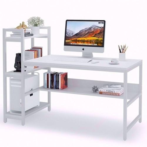 Zizuva Beyaz Raflı Çalışma Masası - ZZ2000-V200071 görseli, Picture 1