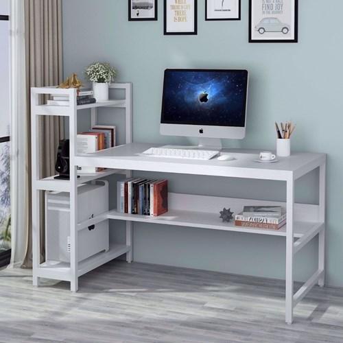 Zizuva Beyaz Raflı Çalışma Masası - ZZ2000-V200071 görseli, Picture 3