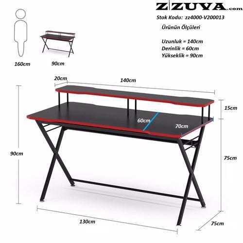 Zizuva Bilgisayar Masası Seti - ZZ2000-V200013-SET görseli, Picture 3