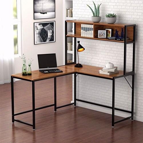 Zizuva Ceviz Kitaplıklı Çalışma Masası - ZZ2000-V200050 görseli, Picture 1