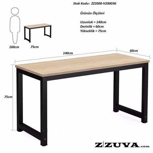 Zizuva Ceviz Modern Minimalist Çalışma Masası - ZZ2000-V200049 görseli, Picture 2