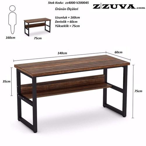 Zizuva Ceviz Ev Ofis Çalışma Masası - ZZ2000-V200045 görseli, Picture 3