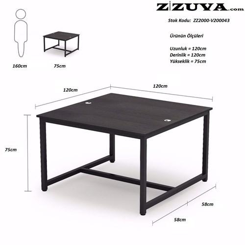 Zizuva Ceviz Çalışma ve Yemek Masası - ZZ2000-V200043 görseli, Picture 4