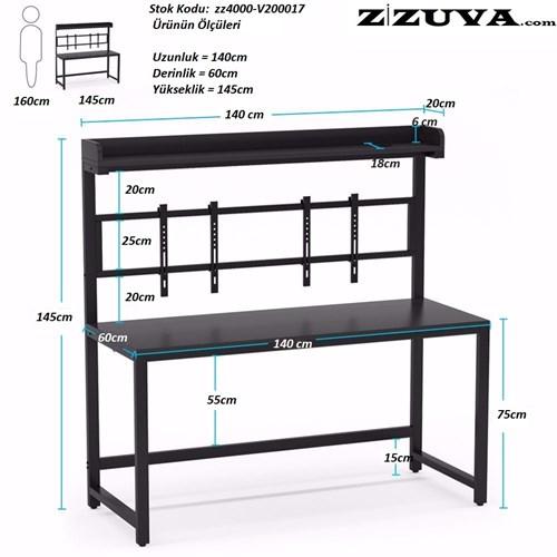 Zizuva Ofis Çalışma Masası - ZZ2000-V200017 görseli, Picture 5