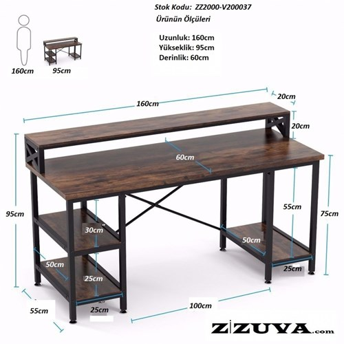 Zizuva Ofis Büro Masası - ZZ2000-V200011 görseli, Picture 4