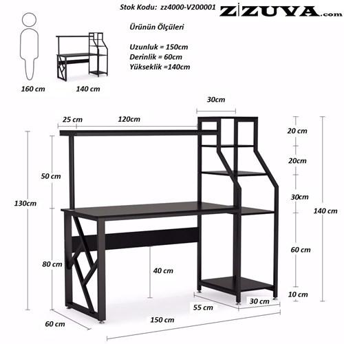 Zizuva Çalışma Masası - ZZ2000-V200001 görseli, Picture 4