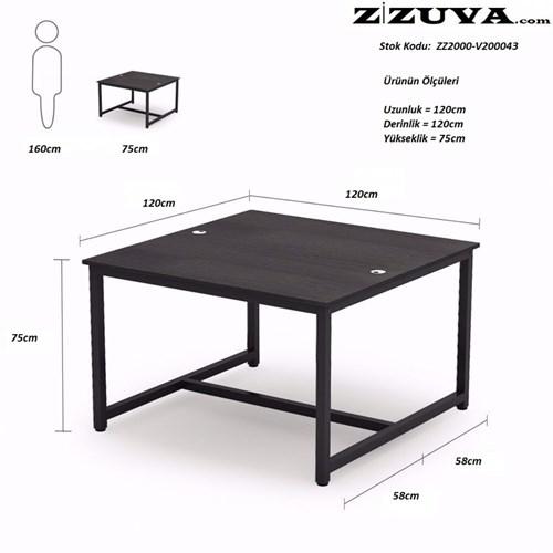 Zizuva Siyah Çalışma ve Yemek Masası - ZZ2000-V200042 görseli, Picture 3