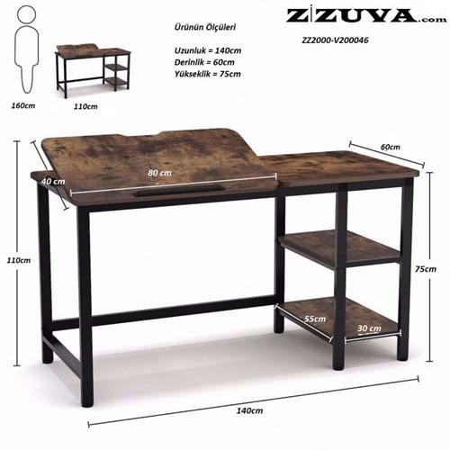 Zizuva Siyah Ayarlanabilir Çizim Çalışma Masası - ZZ2000-V200039 görseli, Picture 3