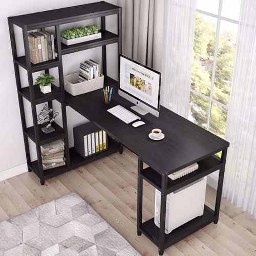 Zizuva Siyah Raflı Çalışma Masası - ZZ2000-V200033 görseli, Picture 2