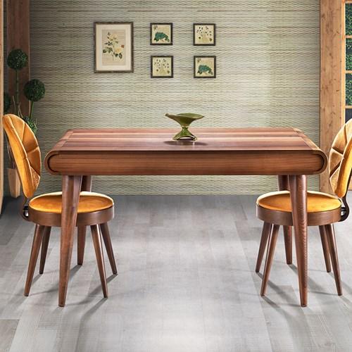 Vakar Ceviz Yemek Masası - VKR02CV görseli, Picture 1