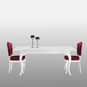 Deren Avangard Ve Torna 150 Beyaz Yemek Masası - DRN01BYZ görseli
