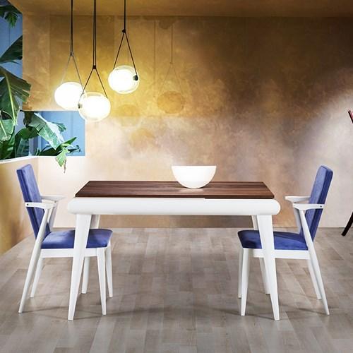 Medar Torna Beyaz Yemek Masası - MDR01BYZ görseli, Picture 1